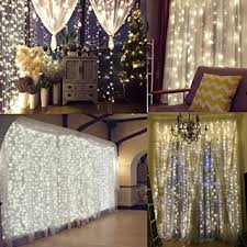 Window Ornaments With Lights Naisidier Window Curtain String Lights Starry