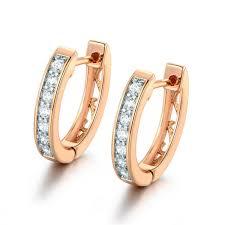 earrings for women earrings for women white crystals aaa cubic zirconia hoop earrings