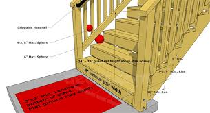 How To Build A Banister On A Staircase Deck Stairs U0026 Steps Code Requirements Decks Com Yard