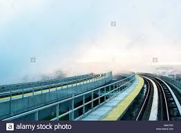 Jfk Airtrain Map New York City Usa Airtrain Track Covered In Smoke At Jfk Airport