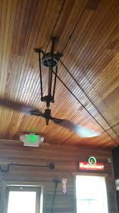 pulley driven ceiling fans large egret belt fans in original hard rock cafe boulder colarado
