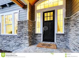 covered porch design front covered porch design with stone columns stock photo image