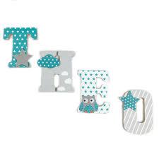 lettre chambre bébé lettre en bois et tissu pour chambre d enfant et bébé prénom motifs
