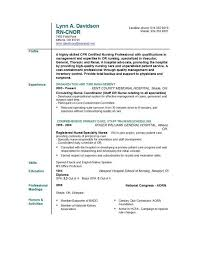 Resume Rn Examples by Nursing Skills For Resume Best Free Resume Collection
