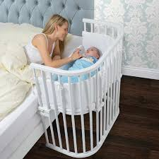 Baby Crib Next To Bed Bedside Co Sleeper That Attaches To Parents Bed Babybay