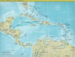 Blank Map Of Caribbean by Political Map Of Central America And The Caribbean Nations Map Of