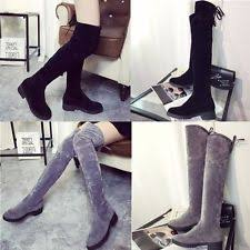 s knee boots uk flat less than 0 5 lace up knee high boots for ebay