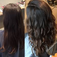 dark chocolate brown hair color with caramel balayage for fall by