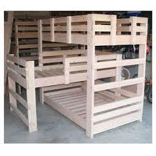 Triple Bunk Bed Solid Wood Custom Made Triple L Shape Bunk Bed - Triple bunk bed wooden
