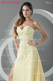dh prom dresses light yellow lovely high low rhinestones prom dresses chiffon