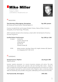 Good Example Of A Resume by Example Of Modern Resume 21 Free Resume Templates For Word