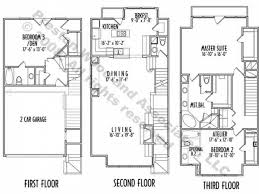 stylish and peaceful 14 narrow lot 3 story beach house plans