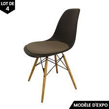chaise eames grise chaise eames dsw gris lot de 4 vitra pas cher grandes marques