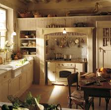 Cottage Style Kitchen Design - enchanting english cottage style kitchen with cream color wooden