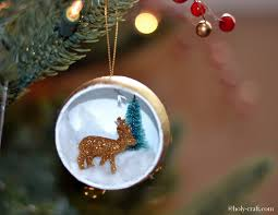 deer and christmas tree ornament rachel teodoro