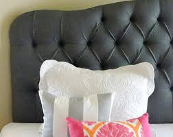 Custom Upholstered Headboards by Custom Tufted Upholstered Headboard Made To Order Wall