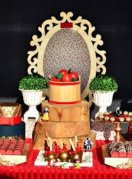 themed dessert table gold snow white themed dessert table hostess with the