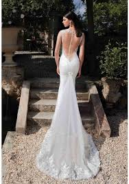 trumpet wedding dresses v neck lace backless trumpet mermaid wedding dress abb0004