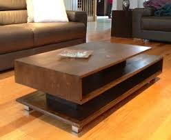 furniture modern coffee table with wooden base in square shape