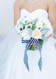 blue and white striped ribbon blue and white striped ribbon bouquet elizabeth designs