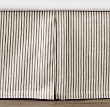 Bed Skirt For Crib Vintage Ticking Stripe Skirt