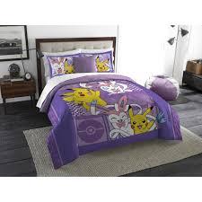 pokemon lavender chu twin full bedding comforter set walmart com