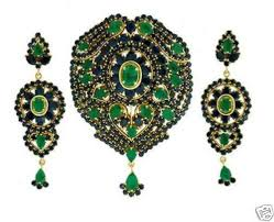 sapphire emerald necklace images Nice combination sapphire emerald pendant with earrings gleam jewels jpg