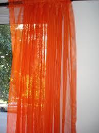 Red Orange Curtains Adorable Sheer Orange Curtains And Burnt Orange Sheer Curtain