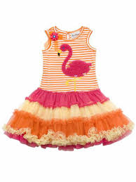 editions stripe flamingo tutu dress