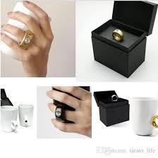 elegant crystal diamond 2 carat ring ceramic cup coffee mug cup