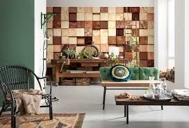 Schlafzimmer Mit Holz Tapete Urige Atmosphäre Durch Optik Tapeten