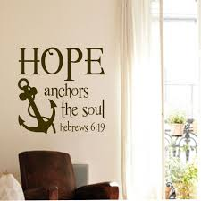 Love Anchors The Soulnautical Anchor - hope anchors soul vinyl lettering nautical decal wall quotes
