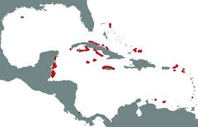 Map Of The Caribbean A Clear Human Footprint In The Coral Reefs Of The Caribbean