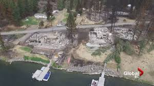 Bc Wildfire Data by Drone Footage Captures B C Wildfire Destruction At Loon Lake