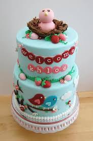 berry bird baby shower cake cakecentral com