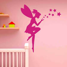 fairy and stars wall decal sticker girl s room vinyl wall art fairy and stars wall decal sticker girl s room vinyl wall art nursery wall decor
