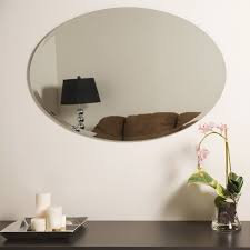 frameless metallic wall mirror large modern frameless wall mounted