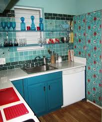 Retro Kitchen Design by Retro Kitchen Design Ideas Beautiful Red Glass Pendant Lamps Above