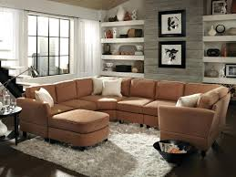 Microfiber Sofa Sectionals Small Sectional Couches With Chaise Lounge Chocolate Brown