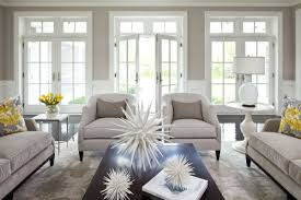Gray Living Rooms Home Design Ideas - White and grey living room design