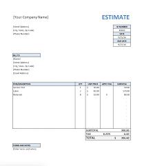 Hvac Estimate Template by Free Estimate Template For Contractors