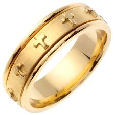 christian wedding bands 14k yellow gold christian religious band 7mm 3001787 shop at