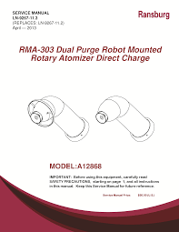 ransburg rma 560 robot mounted dual purge direct service manuals