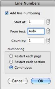 Count Word In Document Automatically Number Lines In Word 2011 For Mac Dummies