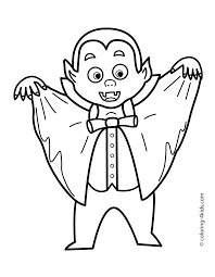 halloween vampire coloring pages kids printable free