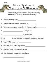 computer memory u0026 storage study guide u0026 worksheet by jen laratonda