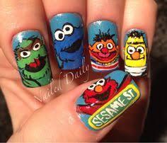 sesame street nails חיפוש ב google nail art for begginers