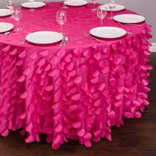 118 in round petal tablecloth fuchsia rounding banquet tables