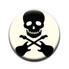 skull cross guitars badge