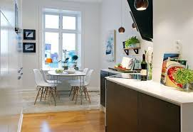 interior minimalist scandinavian kitchen decor with black wood